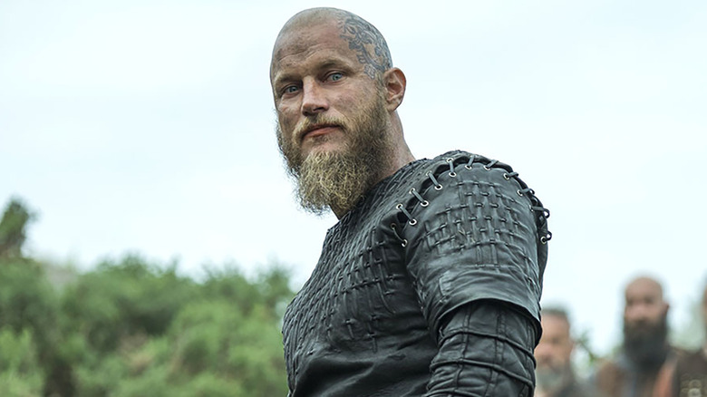 Ragnar Lothbrok looking down