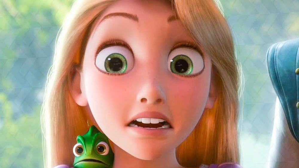 Rapunzel with frog