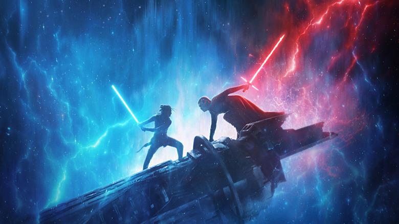 Rey and Kylo Ren in Rise of Skywalker