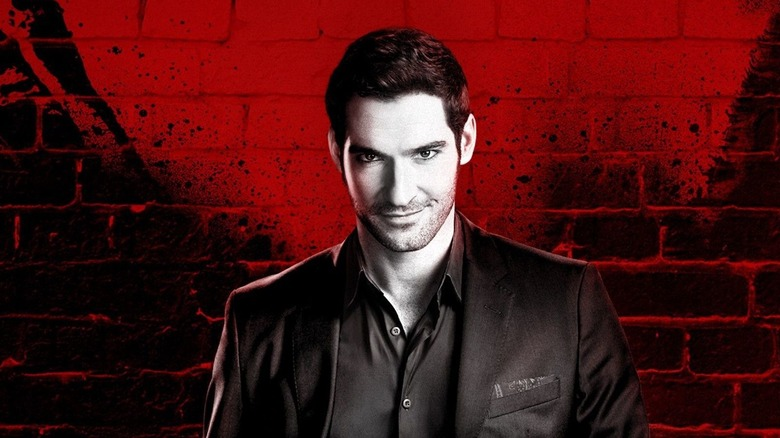 Lucifer Morningstar smiling at the camera