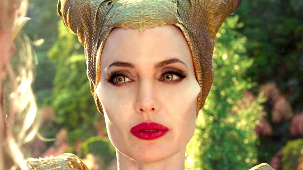 Maleficent wearing golden headpiece