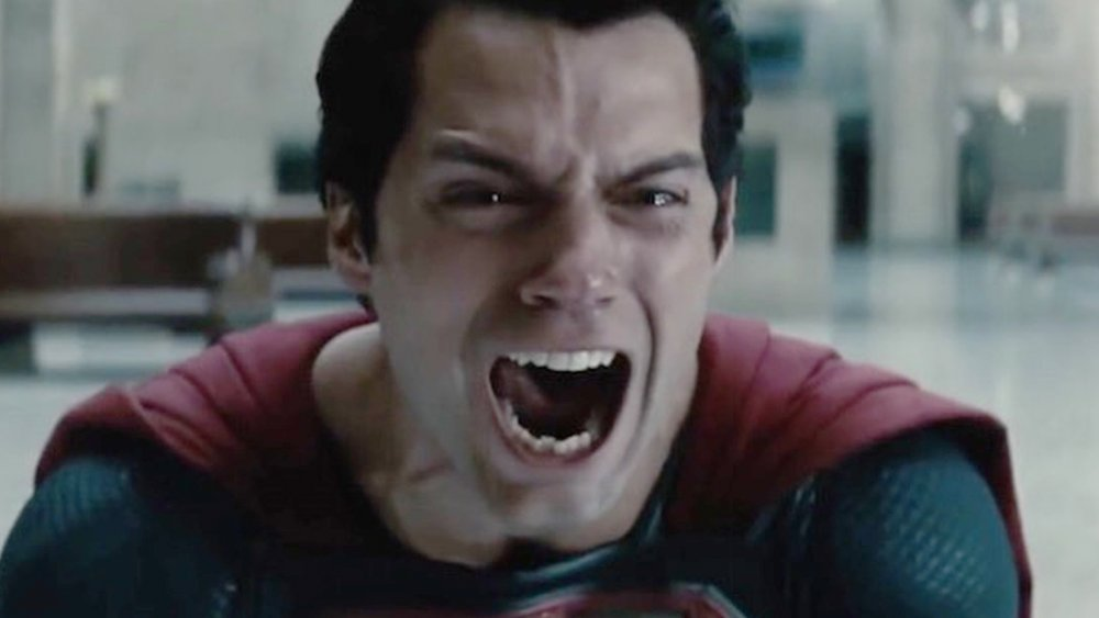 Henry Cavill as Superman screaming at the end of Man of Steel