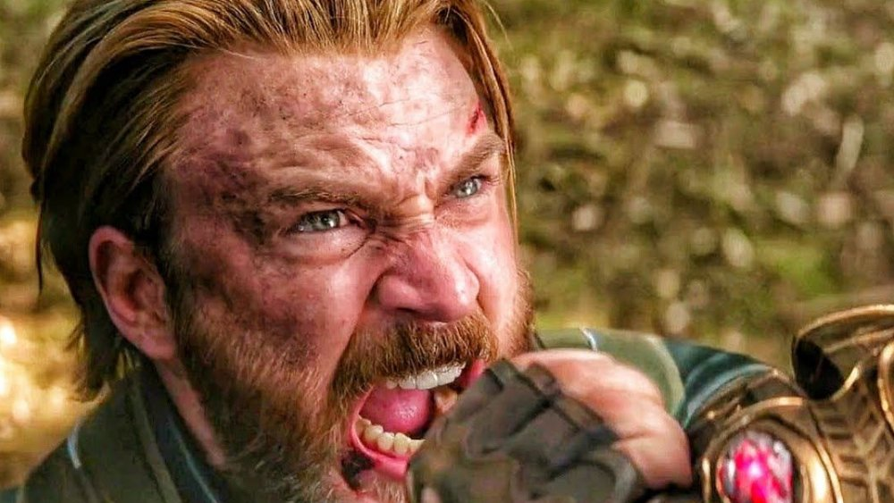 Chris Evans as Captain America in Avengers: Infinity War