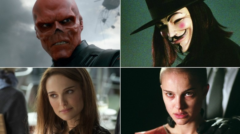 Red Skull, V, Jane Foster, and Evey