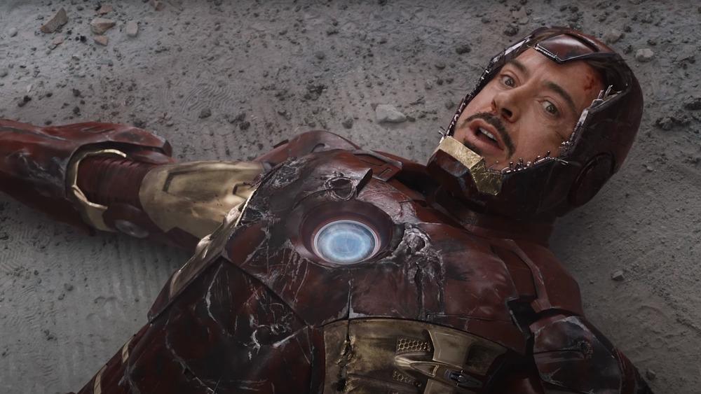 Robert Downey Jr as Iron Man in The Avengers