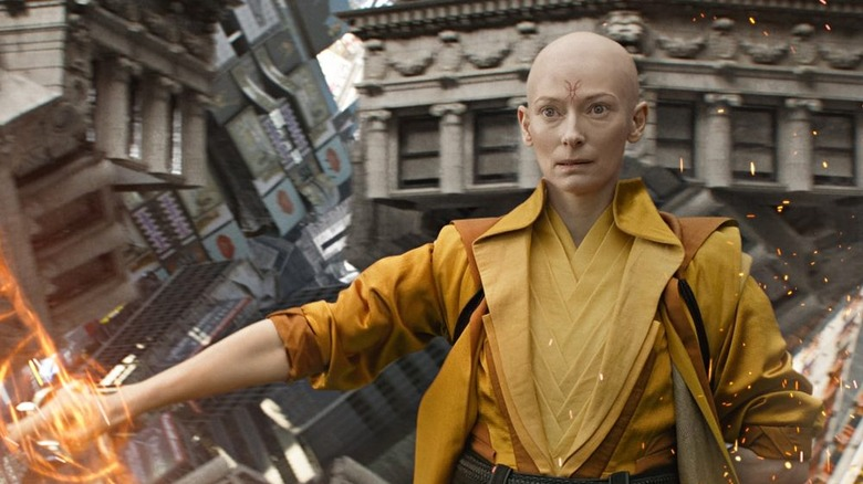 Tilda Swinton as The Ancient One in Doctor Strange