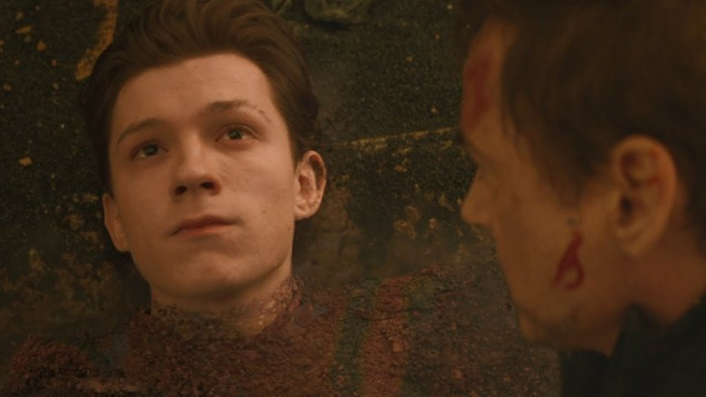 Tom Holland and Robert Downey Jr. in Avengers: Infinity War