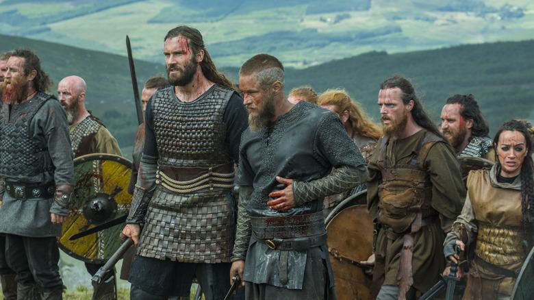Viking warriors after battle