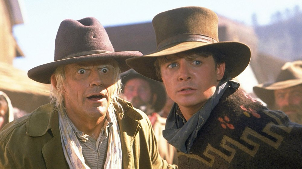 Christopher Lloyd and Michael J Fox in Back to the Future Part III