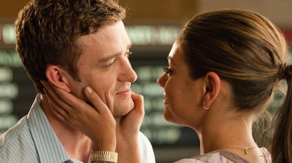 Mila Kunis and Justin Timberlake lock eyes