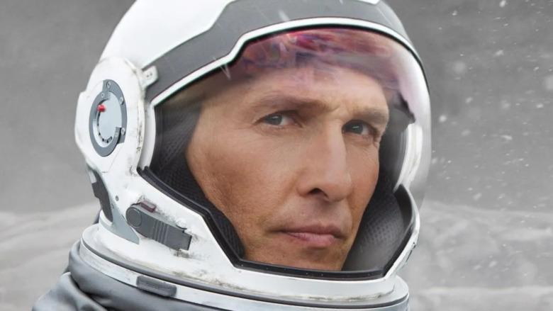 Joseph Cooper in space suit
