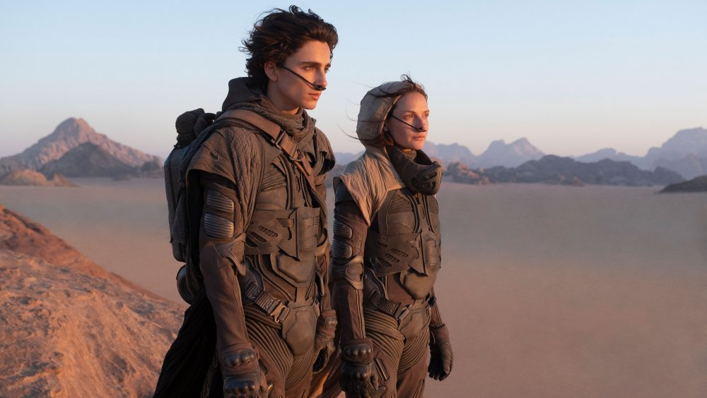 Timothee Chalamet and Rebecca Ferguson in Dune
