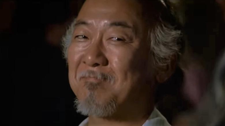 Pat Morita in The Karate Kid, Mr. Miyagi