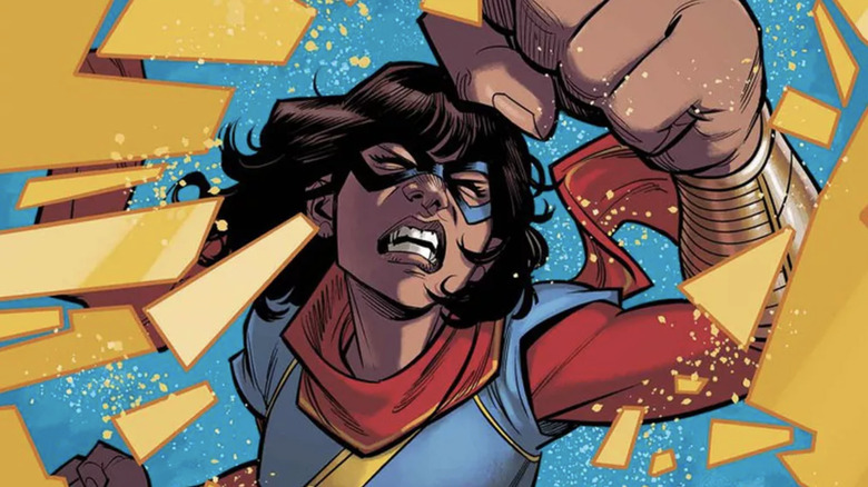 Ms. Marvel comic cover punch