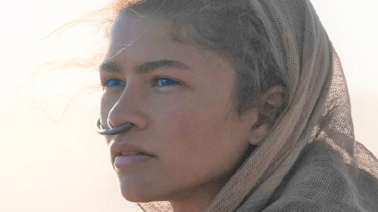 Zendaya with blue eyes