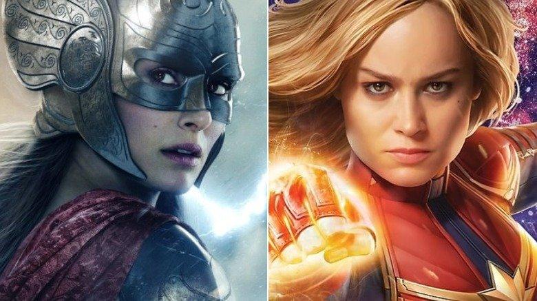 Natalie Portman Brie Larson Jane Foster Captain Marvel