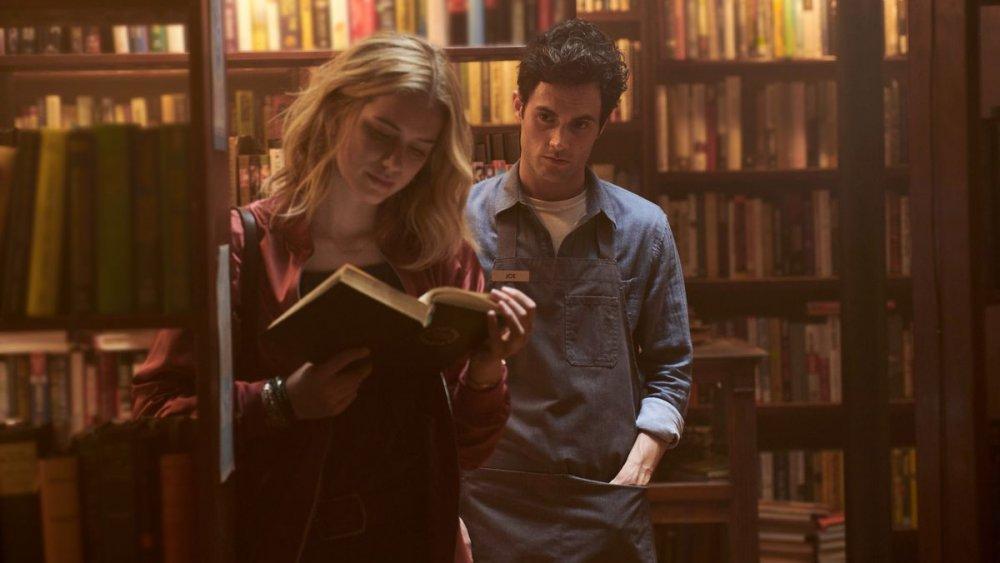 Joe Goldberg in his bookstore in You