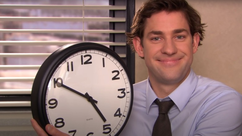 Jim with clock