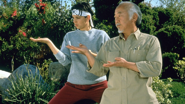 Daniel Larusso Mr. Miyagi karate