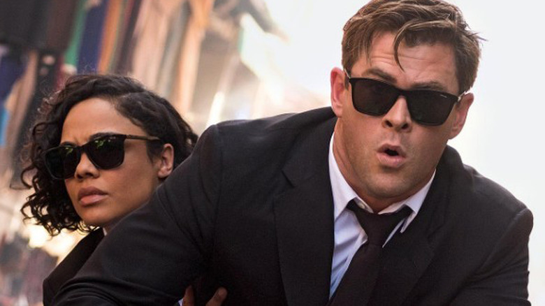 Chris Hemsworth and Tessa Thompson Men in Black Entertainment Weekly