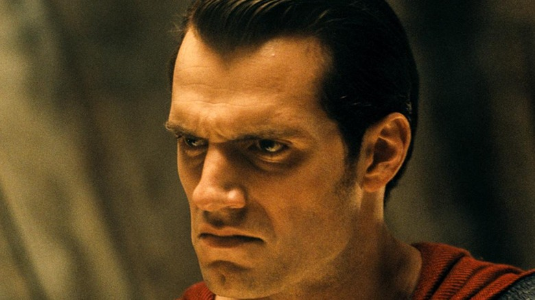 Henry Cavill Superman glaring
