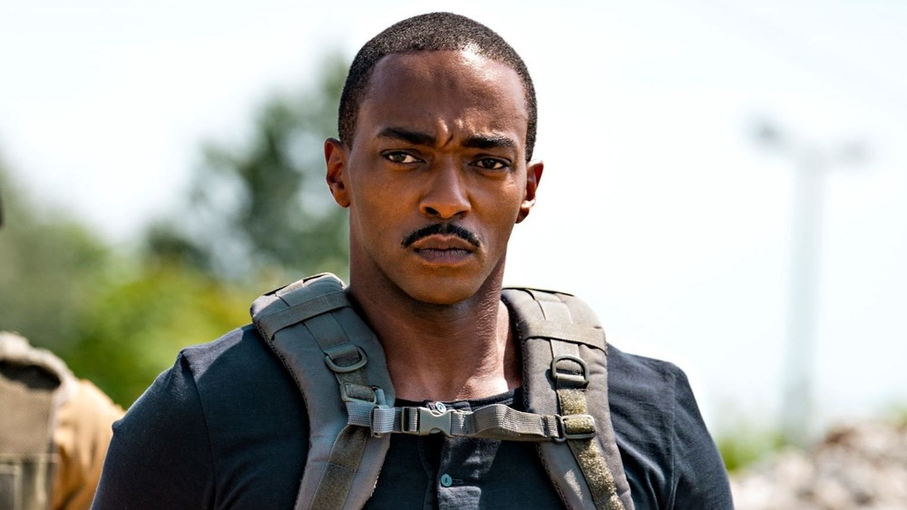 Anthony Mackie glaring