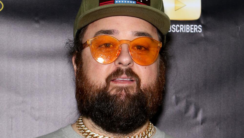 Austin Chumlee Russell hat orange glasses