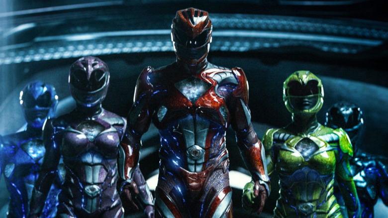 The Power Rangers in Power Rangers (2017)