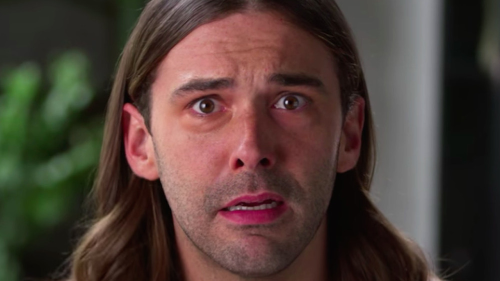 Jonathan Van Ness looking disturbed