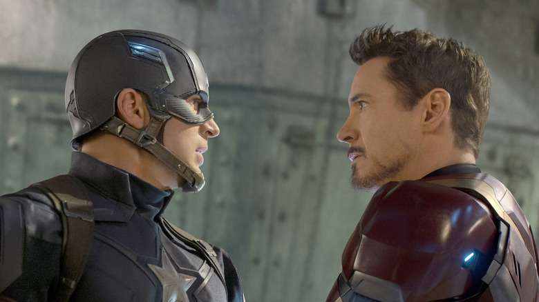 Rogers and Stark face to face