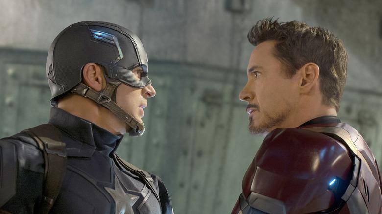 Rogers e Stark frente a frente