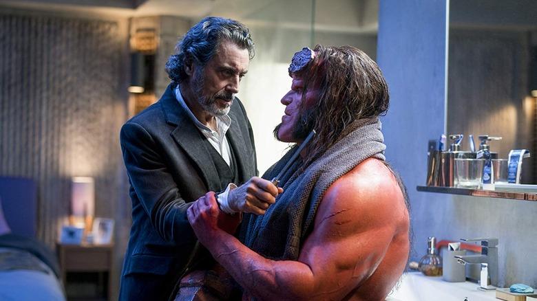 Professor Broom and Hellboy