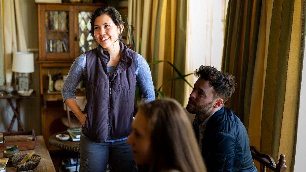 Director Natalie Erika James on the set of RELIC
