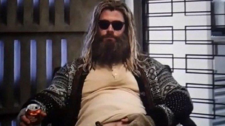 Chris Hemsworth fat Thor Avengers Endgame