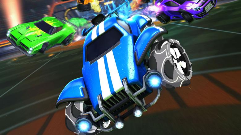 Rocket League Blue Car