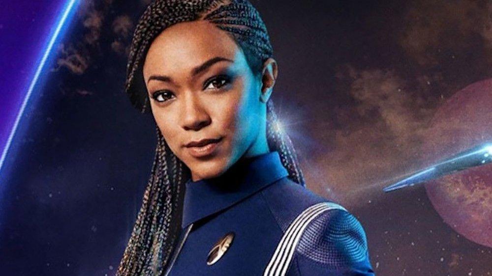 Sonequa Martin-Green as Michael Burnham on Star Trek: Discovery