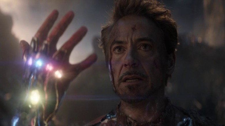 Tony with Infinity Stones