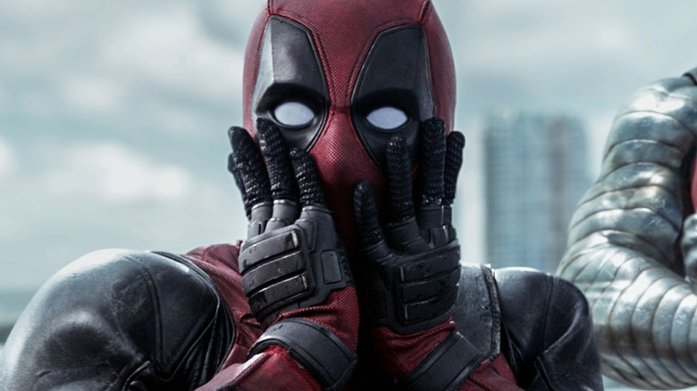Deadpool surprised face
