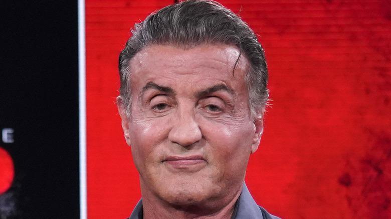Sylvester Stallone smiling red carpet