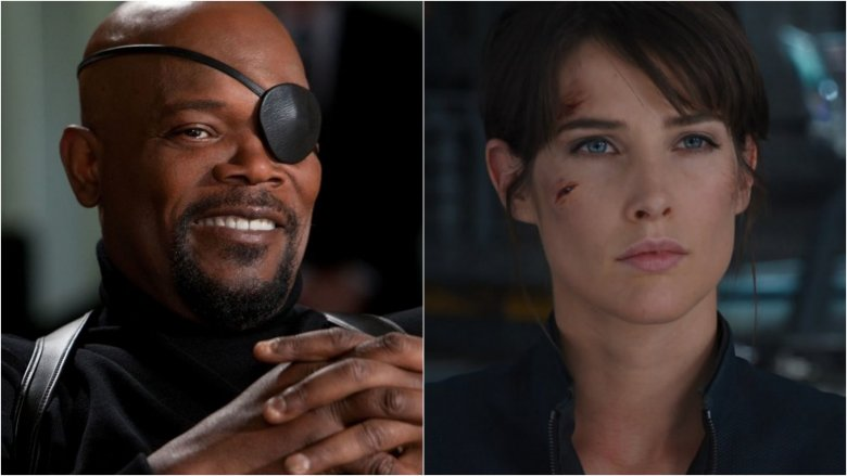 Samuel L. Jackson as Nick Fury, Cobie Smulders as Maria Hill