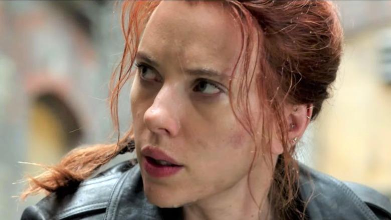 Black Widow looking intense
