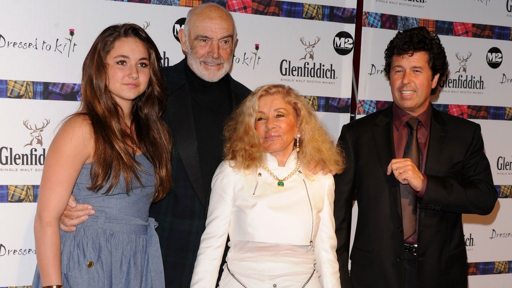 The late Sean Connery and his family