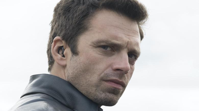 Sebastian Stan Bucky earpiece