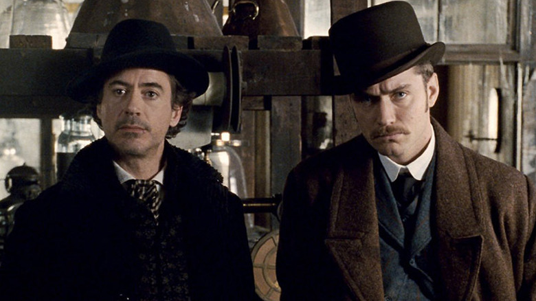 Robert Downey Jr. and Jude Law in Sherlock Holmes movie