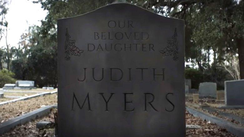 Judith Myers tombstone Halloween