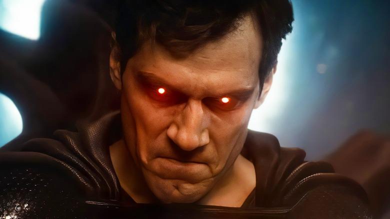 Superman's eyes glow red