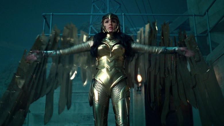 Gal Gadot as Wonder Woman in her golden armor
