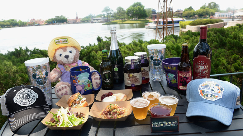 A variety of food  and drink from Disney World's Epcot park