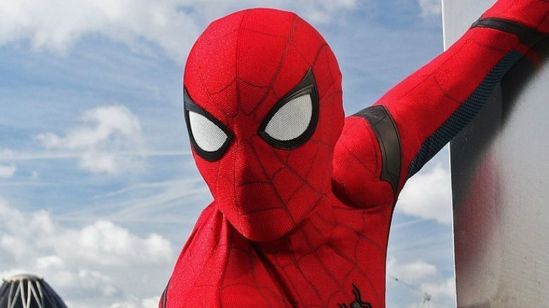 Spider-Man Far From Home up-close suit