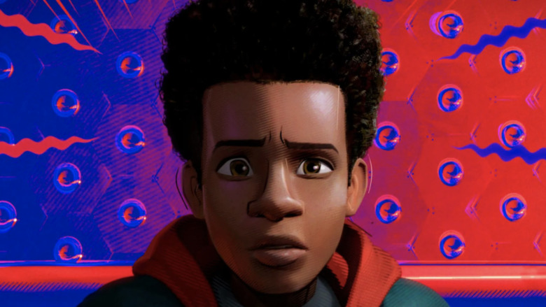 Miles Morales Spidey sense animated